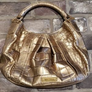 Rare Gold Crocodile Leather Burberry